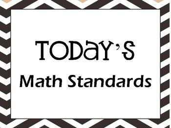 Chevron TN Ready Algebra 1 Standards 2017-2018 Classroom Posters
