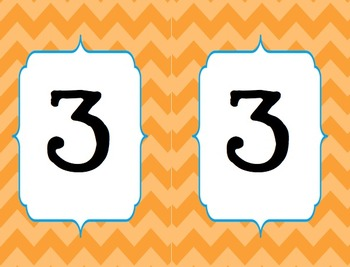 Chevron Table Group Numbers (Small and Large)