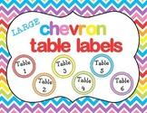 Chevron Table Labels LARGE