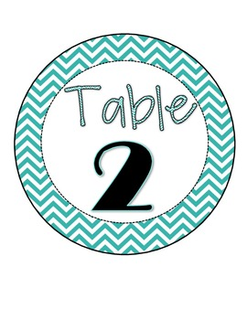 Chevron Table Numbers