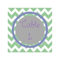 Chevron Table Numbers 1-5