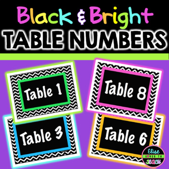 Chevron Table Numbers 1-9