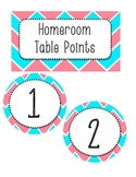 Chevron Table Points - Math and Homeroom