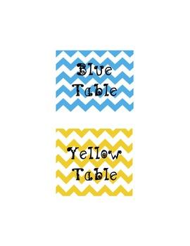 Chevron Table/Group Labels