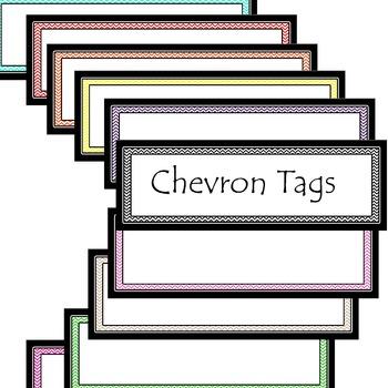 Chevron Tag and Label Set
