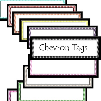 Chevron Tag and Label Set