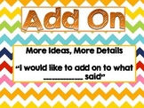 Chevron Math Talk Posters