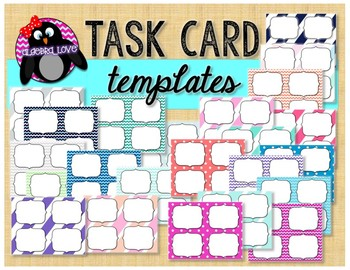 UPDATED Chevron Task Cards Template *Personal Use*