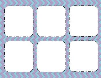 Task Cards and Frames [Editable] Chevron