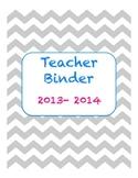 Chevron Teacher Binder 2013-2014