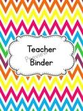 Chevron Teacher Binder Cover