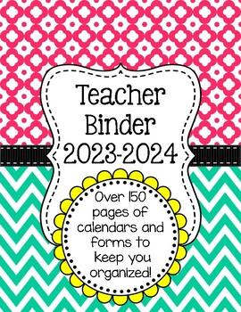 Chevron Teacher Binder Organization Bundle w/ Editable Binder Covers
