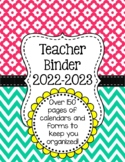 Chevron Teacher Binder Organization Bundle w/ Editable Binder Covers