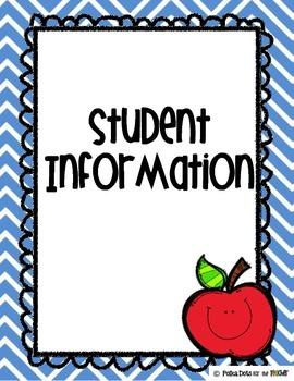 Chevron Teacher Binder Organizers