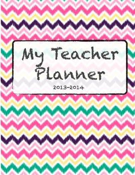 Chevron Teacher Planner