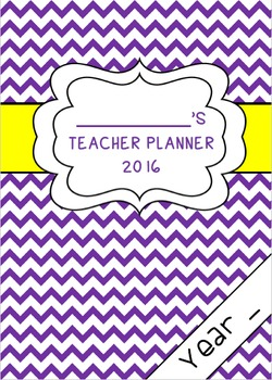 Chevron Teacher Planner