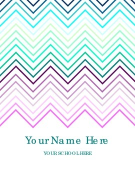 Free Chevron Teacher Planner Cover