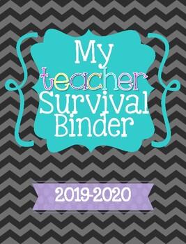 Chevron Teacher Survival Binder