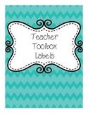 Chevron Teacher Toolbox Labels