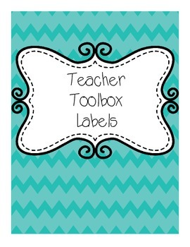 Chevron Teacher Toolbox Labels