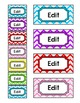 Chevron Theme Teacher Toolbox Supply Labels Classroom Decor