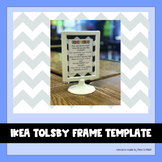 Chevron Template for IKEA Tolsby Frame