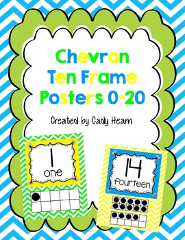 Chevron Ten Frame Posters 0-20