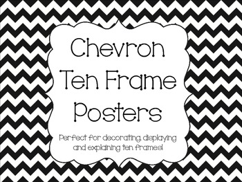Chevron Ten Frame Posters