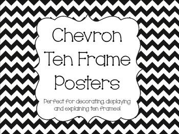 Chevron Ten Frame Posters