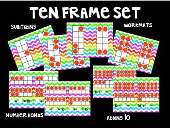 Chevron Ten Frames Packet