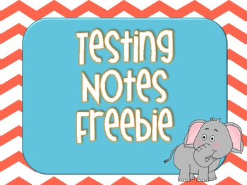 Chevron Testing Notes FREEBIE