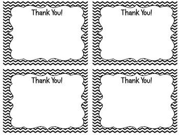 Chevron Thank You Cards