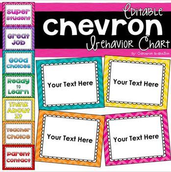 Chevron Bright Theme Behavior Clip Chart Editable