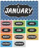 Chevron Theme Calendar