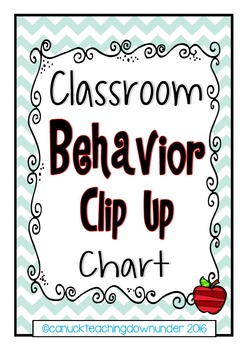 Chevron Theme Classroom Behavior Clip Up Chart