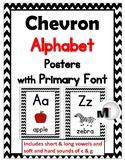 Chevron Classroom Decor - Alphabet Uppercase & Lowercase Posters