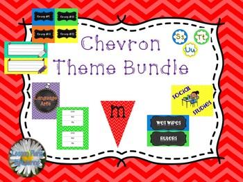 Chevron Theme Classroom Forms **BUNDLE**  Back To School