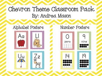 Chevron Theme Classroom Mega Pack