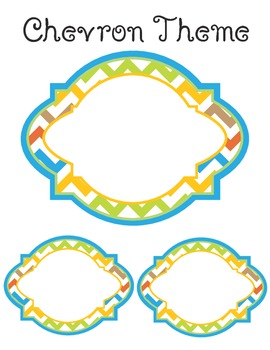 Chevron Theme - Classroom Tags