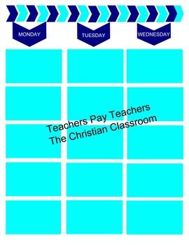 Chevron Theme Color Block Printable Lesson Plan Book Pages