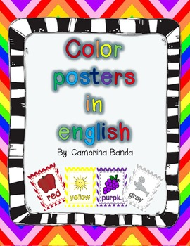 Chevron Theme Color posters