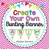 Rainbow Chevron Customizable Banner Kit