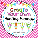 Rainbow Chevron Customizable Banner Kit