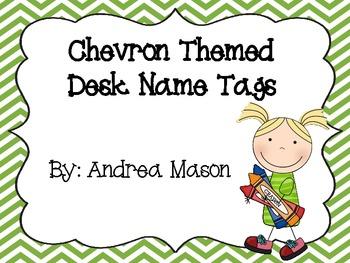 Chevron Theme Desk Name Plates