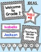 Chevron Theme Labels - Black and White