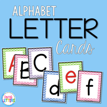 Chevron Letter Cards