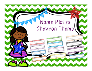 Chevron Theme Name Plates