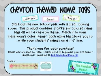 Chevron Theme Name Tags