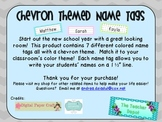 Chevron Theme Name Tags