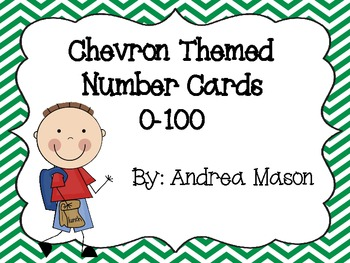 Chevron Theme Number Cards 0-100